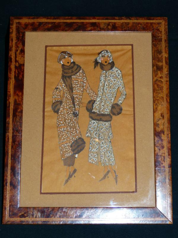 Aquarelle-ART-DECO-MODE-Femmes-Elegantes-en-Fourrures-Genre-Icart-Kirchner-273954520380-2