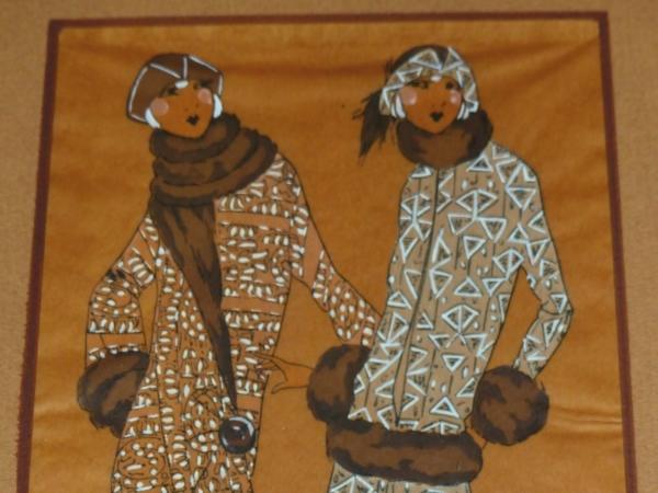 Aquarelle-ART-DECO-MODE-Femmes-Elegantes-en-Fourrures-Genre-Icart-Kirchner-273954520380-4