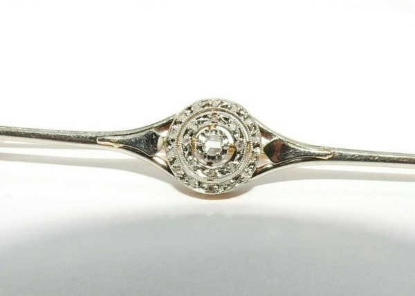 BROCHE-OR-BLANC-750-1900-Rose-de-Diamant-Eclats-29gr-Tete-daigle-283588887700-2