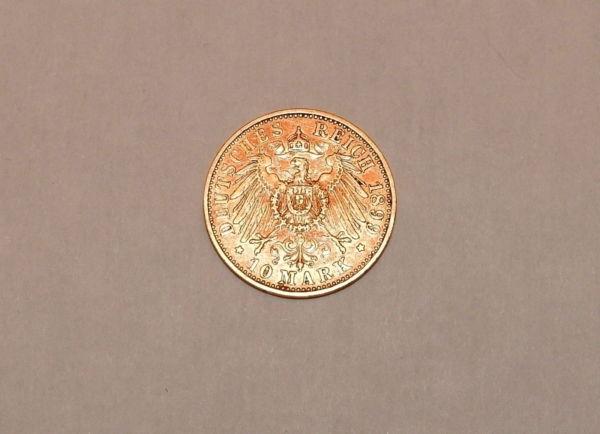 Pice-OR-10-MARK-1899-A-Wilhem-II-Prusse-Prussia-Preussen-393-gr-282990597800-4