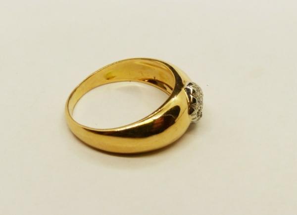 JONC-OR-Jaune-750-18K-9-Diamants-taille-ancienne-63-gr-Bijou-Ancien-283596483641-4