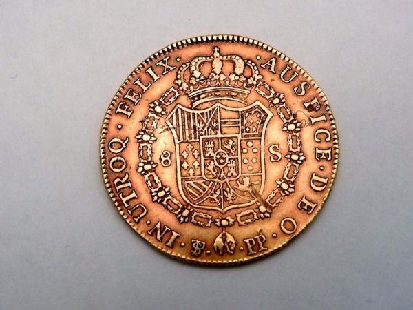 Pice-OR-Espagne-Charles-IV-8-Escudos-1798-Rio-Plata-Espaa-Carlos-IV-Oro-282286805841-2