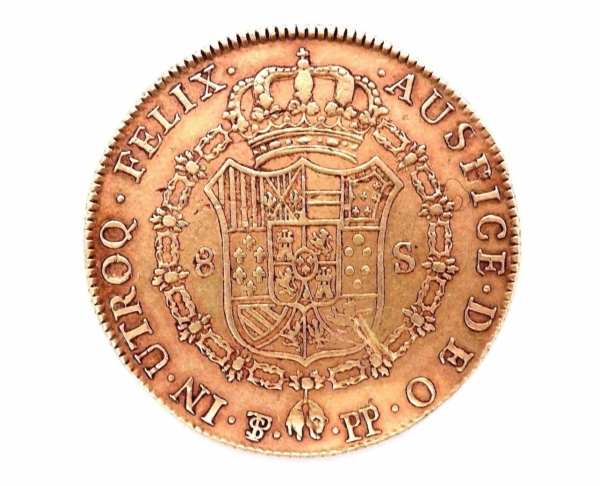 Pice-OR-Espagne-Charles-IV-8-Escudos-1798-Rio-Plata-Espaa-Carlos-IV-Oro-282286805841