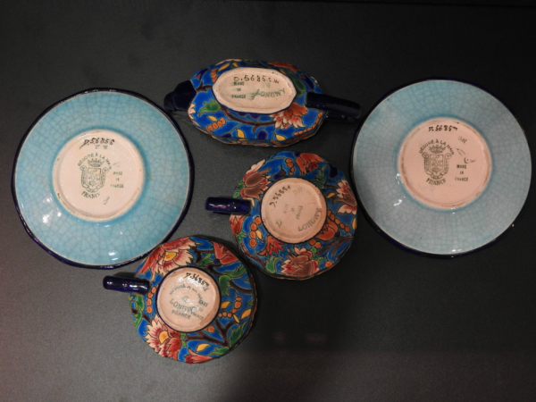 Service-Tete-tete-Caf-Th-Estampill-LONGWY-Faience-maille-TTBE-282824890031-10
