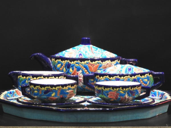 Service-Tete-tete-Caf-Th-Estampill-LONGWY-Faience-maille-TTBE-282824890031-2