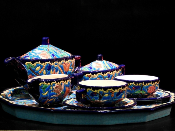 Service-Tete-tete-Caf-Th-Estampill-LONGWY-Faience-maille-TTBE-282824890031-3