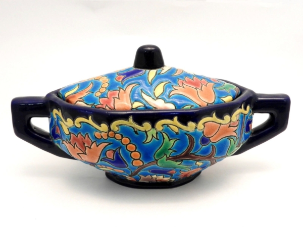 Service-Tete-tete-Caf-Th-Estampill-LONGWY-Faience-maille-TTBE-282824890031-5