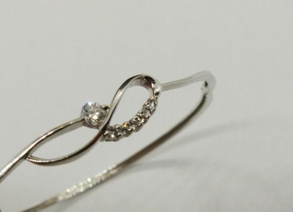 Bracelet-OR-BLANC-750-Articul-68-gr-Poinon-Tete-daigle-7-Diamants-283596483642-3