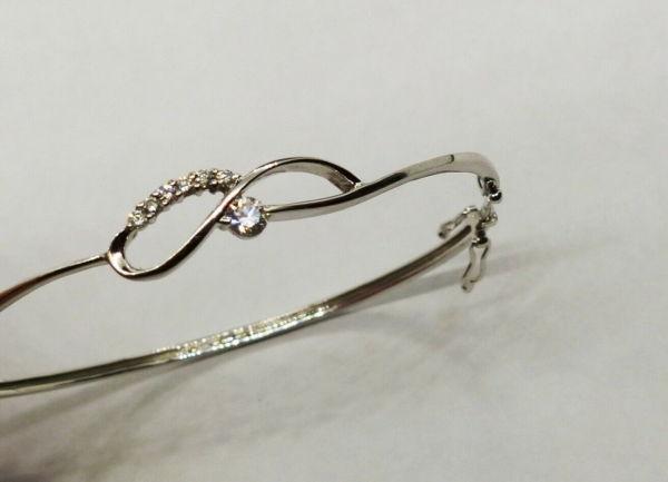 Bracelet-OR-BLANC-750-Articul-68-gr-Poinon-Tete-daigle-7-Diamants-283596483642-4