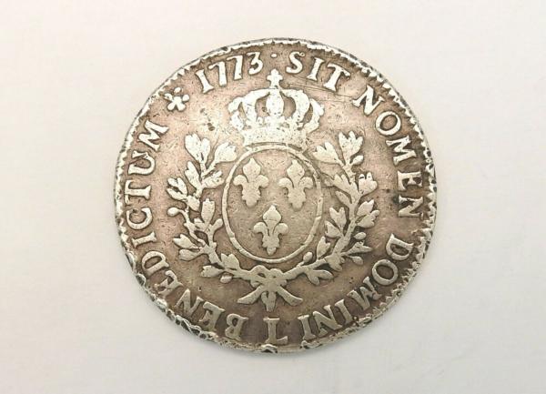 ECU-a-la-vieille-tete-Louis-XV-1773-L-ARGENT-917-XVIII-Bayonne-TB-273954520402