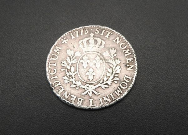 ECU-a-la-vieille-tete-Louis-XV-1773-L-ARGENT-917-XVIII-Bayonne-TB-273954520402-8