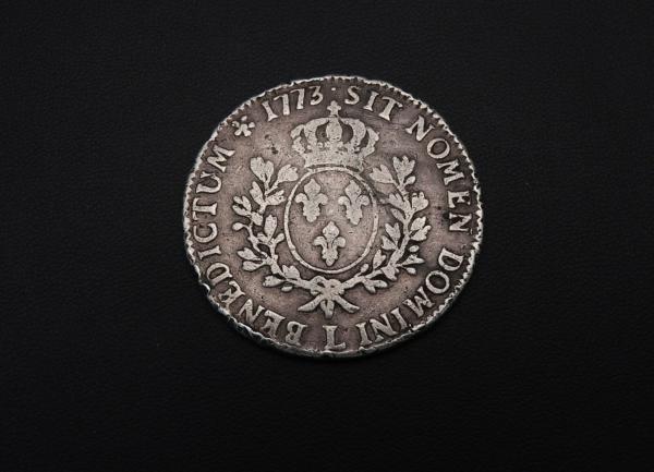 ECU-a-la-vieille-tete-Louis-XV-1773-L-ARGENT-917-XVIII-Bayonne-TB-273954520402-9