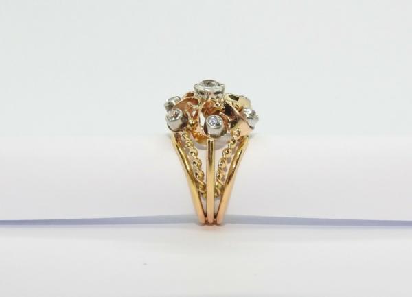 BAGUE-OR-Jaune-750-18K-7-Diamants-1-carat-11-gr-Bijou-Ancien-283567197423-10