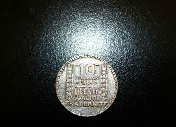 10-FR-ARGENT-1937-10-F-TURIN-TB-10-FRANCS-Monnaie-Argent-273954520395-10