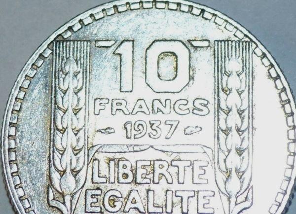 10-FR-ARGENT-1937-10-F-TURIN-TB-10-FRANCS-Monnaie-Argent-273954520395-2