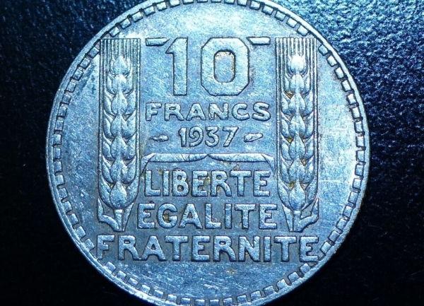 10-FR-ARGENT-1937-10-F-TURIN-TB-10-FRANCS-Monnaie-Argent-273954520395-4