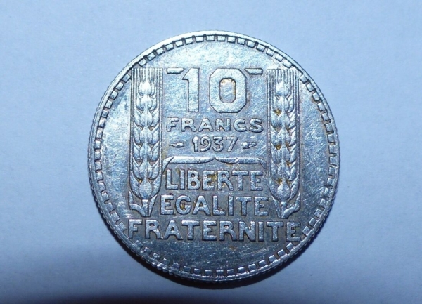 10-FR-ARGENT-1937-10-F-TURIN-TB-10-FRANCS-Monnaie-Argent-273954520395-5