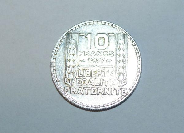 10-FR-ARGENT-1937-10-F-TURIN-TB-10-FRANCS-Monnaie-Argent-273954520395-6