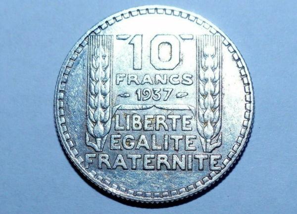 10-FR-ARGENT-1937-10-F-TURIN-TB-10-FRANCS-Monnaie-Argent-273954520395
