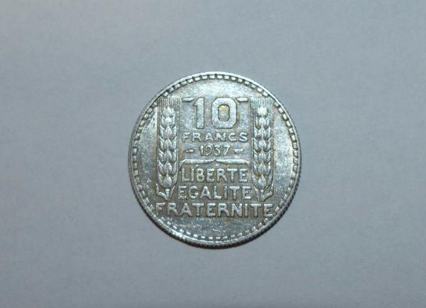 10-FR-ARGENT-1937-10-F-TURIN-TB-10-FRANCS-Monnaie-Argent-273954520395-7