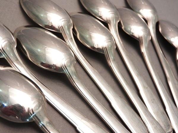 15-Cuillres-Caf-dessert-Argent-Massif-MINERVE-448-gr-Orfvre-BOULENGER-282824890016-2