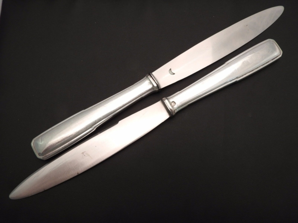 18-Grands-Couteaux-Argent-Massif-MINERVE-16-Kg-Maitre-Orfvre-BOULENGER-282824890026-2
