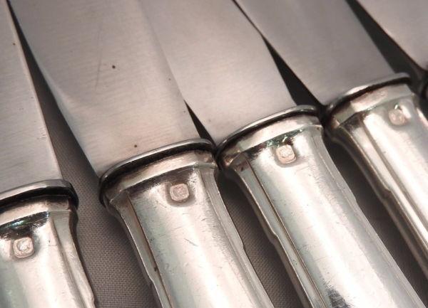 18-Grands-Couteaux-Argent-Massif-MINERVE-16-Kg-Maitre-Orfvre-BOULENGER-282824890026-9