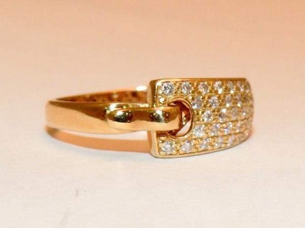 BAGUE-GUY-LAROCHE-OR-Jaune-750-40-Diamants-Poinon-au-Hibou-52gr-18car-273033608606-10