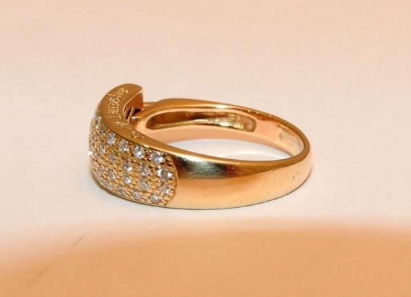 BAGUE-GUY-LAROCHE-OR-Jaune-750-40-Diamants-Poinon-au-Hibou-52gr-18car-273033608606-11