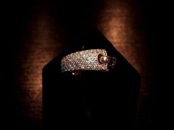 BAGUE-GUY-LAROCHE-OR-Jaune-750-40-Diamants-Poinon-au-Hibou-52gr-18car-273033608606-12