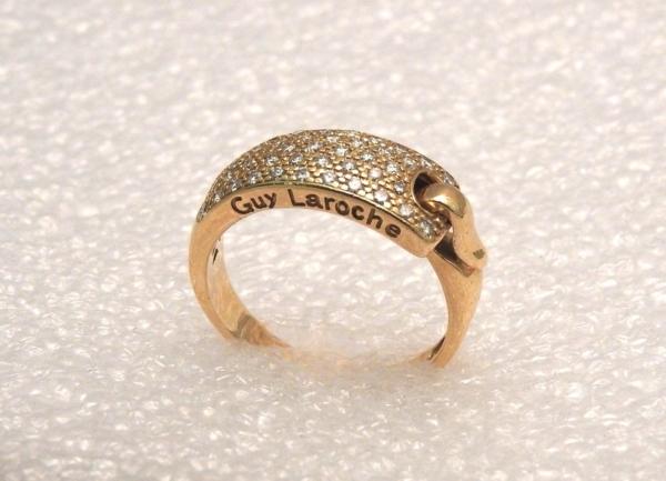 BAGUE-GUY-LAROCHE-OR-Jaune-750-40-Diamants-Poinon-au-Hibou-52gr-18car-273033608606-4