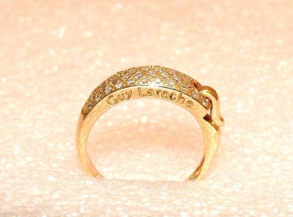 BAGUE-GUY-LAROCHE-OR-Jaune-750-40-Diamants-Poinon-au-Hibou-52gr-18car-273033608606-5