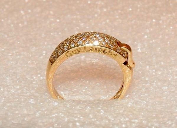 BAGUE-GUY-LAROCHE-OR-Jaune-750-40-Diamants-Poinon-au-Hibou-52gr-18car-273033608606-6