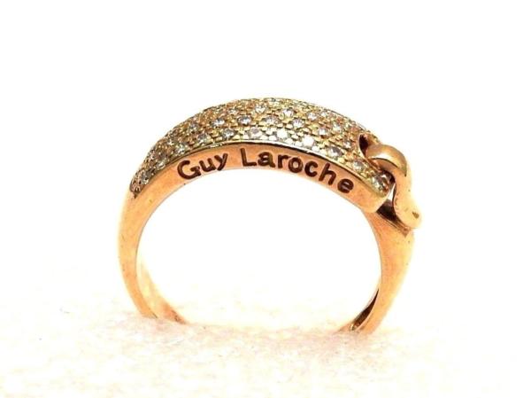 BAGUE-GUY-LAROCHE-OR-Jaune-750-40-Diamants-Poinon-au-Hibou-52gr-18car-273033608606