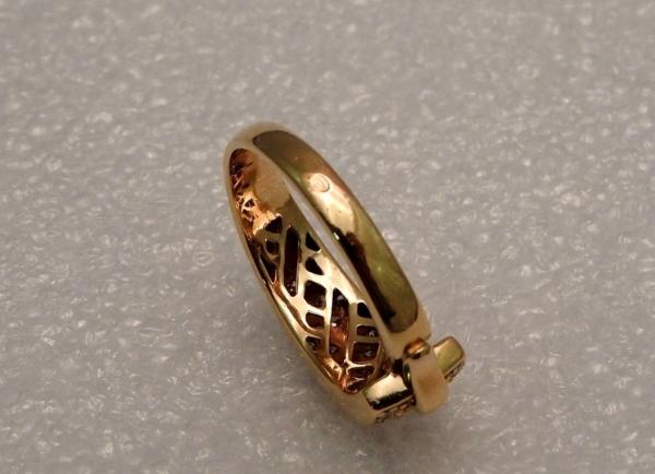 BAGUE-GUY-LAROCHE-OR-Jaune-750-40-Diamants-Poinon-au-Hibou-52gr-18car-273033608606-7