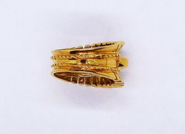 BAGUE-OR-Jaune-750-Bague-TANK-18K-Diamant-78-gr-Bijou-Ancien-273986813826-6