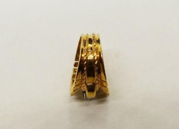 BAGUE-OR-Jaune-750-Bague-TANK-18K-Diamant-78-gr-Bijou-Ancien-273986813826-7