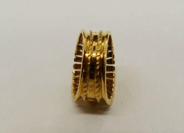 BAGUE-OR-Jaune-750-Bague-TANK-18K-Diamant-78-gr-Bijou-Ancien-273986813826-8