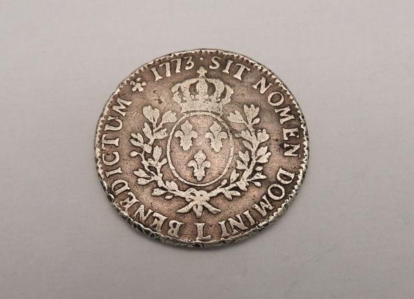 ECU-a-la-vieille-tete-Louis-XV-1773-L-ARGENT-917-XVIII-Bayonne-TB-273247457946-5