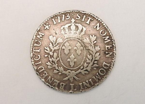 ECU-a-la-vieille-tete-Louis-XV-1773-L-ARGENT-917-XVIII-Bayonne-TB-273247457946