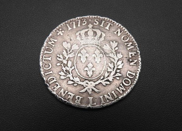 ECU-a-la-vieille-tete-Louis-XV-1773-L-ARGENT-917-XVIII-Bayonne-TB-273247457946-7