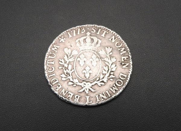 ECU-a-la-vieille-tete-Louis-XV-1773-L-ARGENT-917-XVIII-Bayonne-TB-273247457946-8