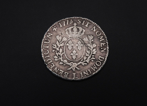 ECU-a-la-vieille-tete-Louis-XV-1773-L-ARGENT-917-XVIII-Bayonne-TB-273247457946-9