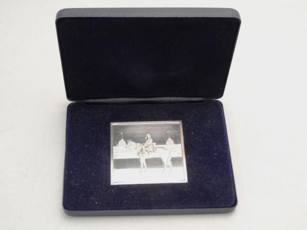 Mdaille-ARGENT-118gr-Silver-Jubilee-Queen-Elisabeth-II-1977-Reine-CHEVAL-282953885026-5
