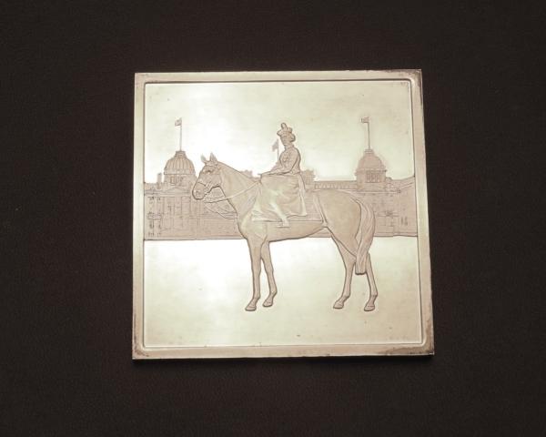 Mdaille-ARGENT-118gr-Silver-Jubilee-Queen-Elisabeth-II-1977-Reine-CHEVAL-282953885026-7