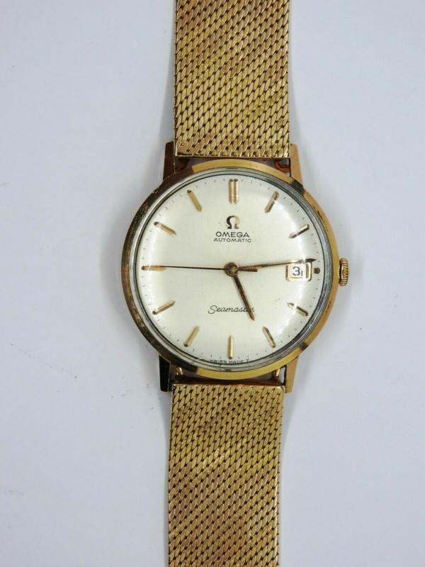 Montre-OMEGA-SEAMASTER-Mouvement-Automatique-Bracelet-montre-OR-Or-750-283495066196-2