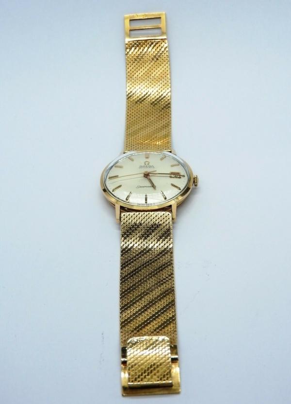 Montre-OMEGA-SEAMASTER-Mouvement-Automatique-Bracelet-montre-OR-Or-750-283495066196-3
