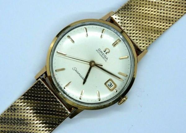 Montre-OMEGA-SEAMASTER-Mouvement-Automatique-Bracelet-montre-OR-Or-750-283495066196-6