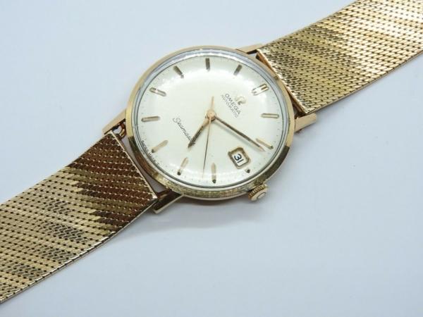 Montre-OMEGA-SEAMASTER-Mouvement-Automatique-Bracelet-montre-OR-Or-750-283495066196-8