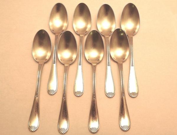 8-Cuillres-Dessert-Argent-Massif-Minerve-163-gr-Cuillres-Gateaux-273196192998-3